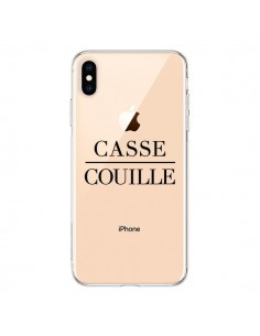 Coque iPhone XS Max Casse Couille Transparente souple - Maryline Cazenave
