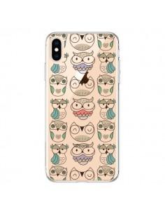 Coque iPhone XS Max Chouettes Owl Hibou Transparente souple - Maria Jose Da Luz