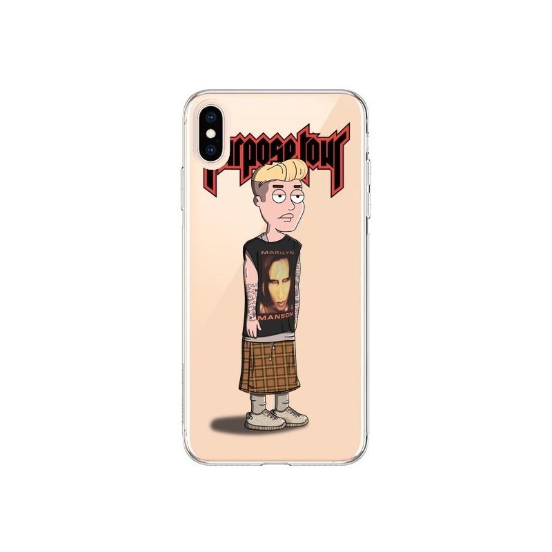 Coque iPhone XS Max Bieber Marilyn Manson Fan Transparente souple - Mikadololo
