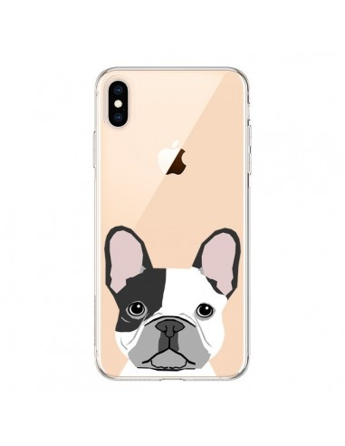 Coque iPhone XS Max Bulldog Français Chien Transparente souple - Pet Friendly