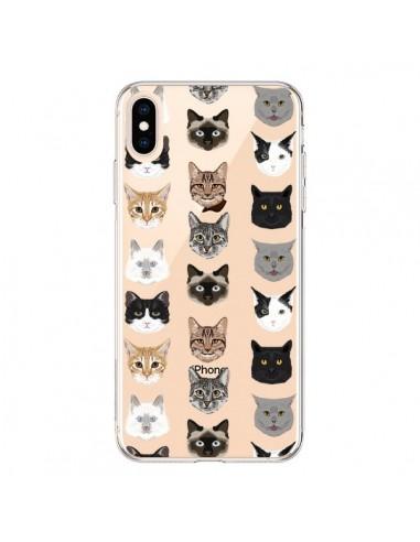 Coque iPhone XS Max Chats Transparente souple - Pet Friendly