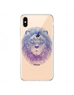 Coque iPhone XS Max Lion Animal Transparente souple - Rachel Caldwell