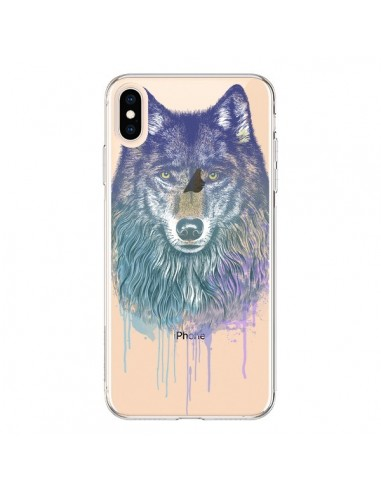 Coque iPhone XS Max Loup Wolf Animal Transparente souple - Rachel Caldwell