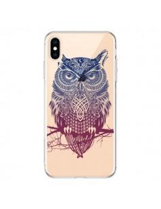 Coque iPhone XS Max Hibou Chouette Owl Transparente souple - Rachel Caldwell