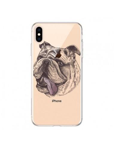 Coque iPhone XS Max Chien Bulldog Dog Transparente souple - Rachel Caldwell