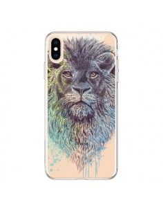 Coque iPhone XS Max Roi Lion King Transparente souple - Rachel Caldwell