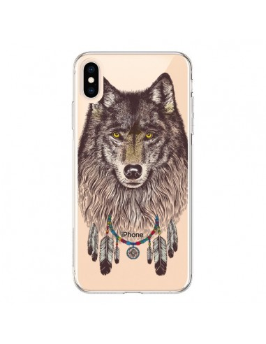 Coque iPhone XS Max Loup Wolf Attrape Reves Transparente souple - Rachel Caldwell