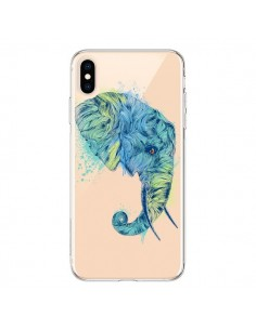 Coque iPhone XS Max Elephant Elefant Transparente souple - Rachel Caldwell