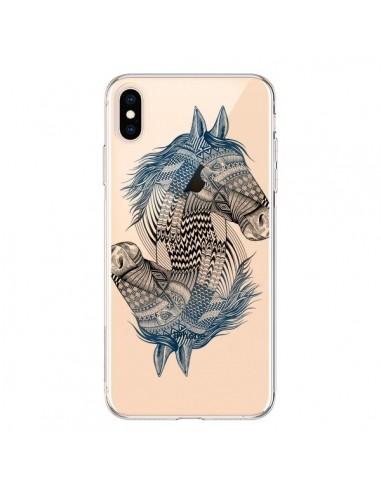 Coque iPhone XS Max Cheval Horse Double Transparente souple - Rachel Caldwell