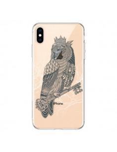 Coque iPhone XS Max Owl King Chouette Hibou Roi Transparente souple - Rachel Caldwell