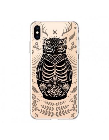 Coque iPhone XS Max Owl Chouette Hibou Squelette Transparente souple - Rachel Caldwell