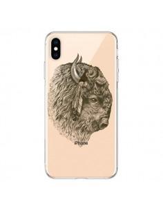 Coque iPhone XS Max Buffalo Bison Transparente souple - Rachel Caldwell