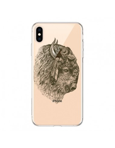 Coque iPhone XS Max Buffalo Bison Transparente souple - Rachel Caldwell