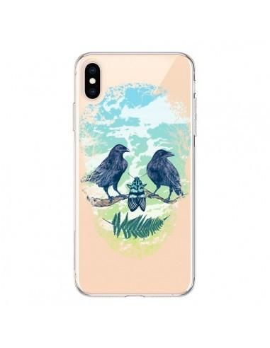 Coque iPhone XS Max Tête de Mort Nature Transparente souple - Rachel Caldwell