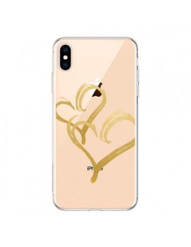 Coque iPhone XS Max Deux Coeurs Love Amour Transparente souple - Sylvia Cook
