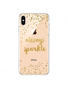 Coque iPhone XS Max Always Sparkle, Brille Toujours Transparente souple - Sylvia Cook