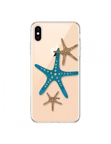 Coque iPhone XS Max Etoile de Mer Starfish Transparente souple - Sylvia Cook