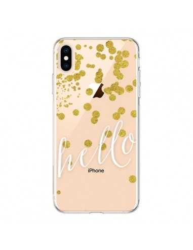 Coque iPhone XS Max Hello, Bonjour Transparente souple - Sylvia Cook