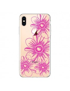 Coque iPhone XS Max Spring Flower Fleurs Roses Transparente souple - Sylvia Cook