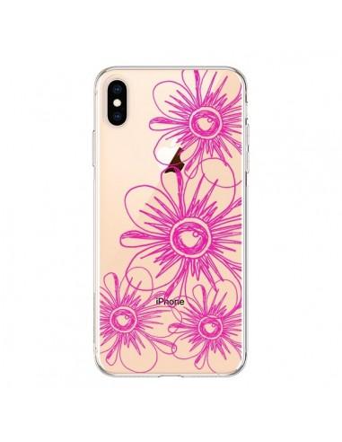 Coque iPhone XS Max Spring Flower Fleurs Roses Transparente souple - Sylvia Cook