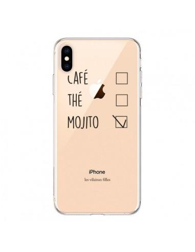 Coque iPhone XS Max Café, Thé et Mojito Transparente souple - Les Vilaines Filles