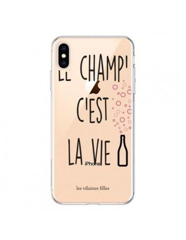 Coque iPhone XS Max Le Champ, c'est la Vie Transparente souple - Les Vilaines Filles