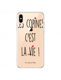 Coque iPhone XS Max Les copines, c'est la vie Transparente souple - Les Vilaines Filles