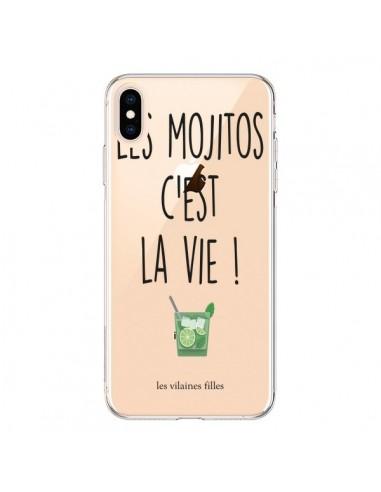 Coque iPhone XS Max Les Mojitos, c'est la vie Transparente souple - Les Vilaines Filles