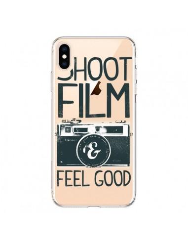 Coque iPhone XS Max Shoot Film and Feel Good Transparente souple - Victor Vercesi