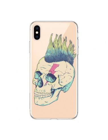 Coque iPhone XS Max Tête de Mort Crane Punk Transparente souple - Victor Vercesi
