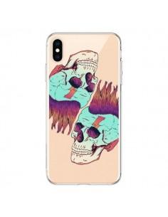 Coque iPhone XS Max Tête de Mort Crane Punk Double Transparente souple - Victor Vercesi
