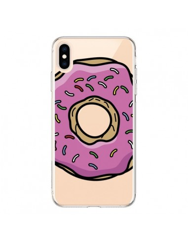 Coque iPhone XS Max Donuts Rose Transparente souple - Yohan B.