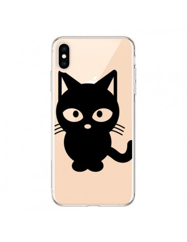 Coque iPhone XS Max Chat Noir Cat Transparente souple - Yohan B.