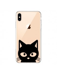 Coque iPhone XS Max Tête Chat Noir Cat Transparente souple - Yohan B.