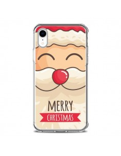 Coque iPhone XR Moustache du Père Noël Merry Christmas - Nico
