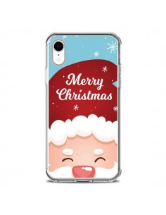 Coque iPhone XR Bonnet du Père Noël Merry Christmas - Nico