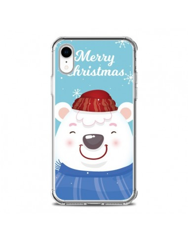 Coque iPhone XR Ours Blanc de Noël Merry Christmas - Nico