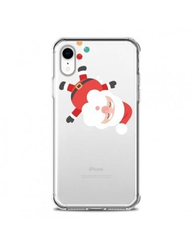 Coque iPhone XR Père Noël et sa Guirlande transparente - Nico