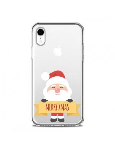 Coque iPhone XR Père Noël Merry Christmas transparente - Nico