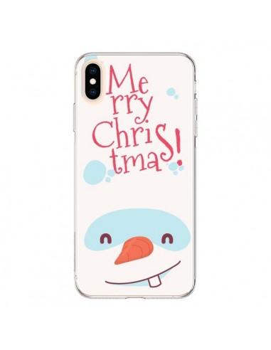Coque iPhone XS Max Bonhomme de Neige Merry Christmas Noël - Nico