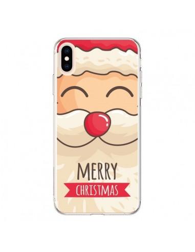 Coque iPhone XS Max Moustache du Père Noël Merry Christmas - Nico
