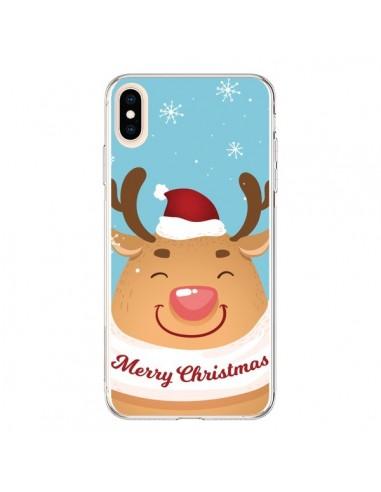 Coque iPhone XS Max Renne de Noël Merry Christmas - Nico
