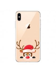 Coque iPhone XS Max Renne de Noël transparente - Nico