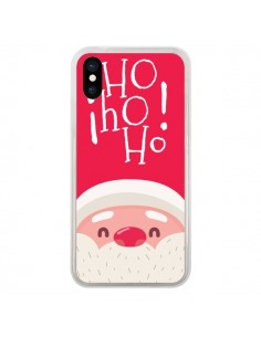 Coque iPhone X et XS Père Noël Oh Oh Oh Rouge - Nico