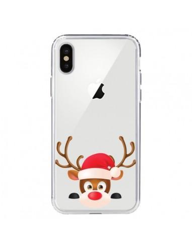 Coque iPhone X et XS Renne de Noël...