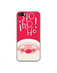 Coque iPhone 5 et 5S et SE Père Noël Oh Oh Oh Rouge - Nico