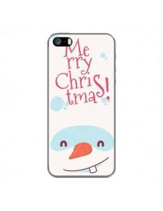 Coque iPhone 5 et 5S et SE Bonhomme de Neige Merry Christmas Noël - Nico