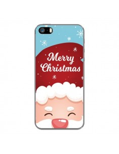 Coque iPhone 5 et 5S et SE Bonnet du Père Noël Merry Christmas - Nico