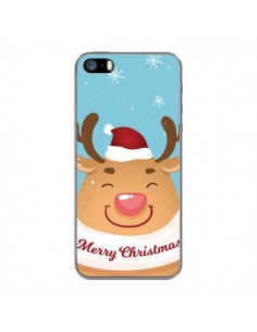 Coque iPhone 5 et 5S et SE Renne de Noël Merry Christmas - Nico