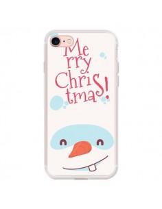 Coque iPhone 7 et 8 Bonhomme de Neige Merry Christmas Noël - Nico